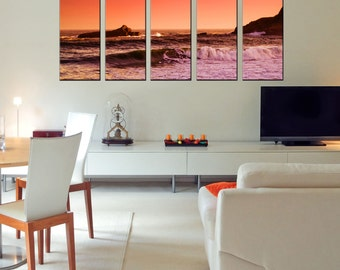 Canvas Prints -  Ocean Canvas Print - Framed Ready to Hang - Seascape Wall Art -  Ocean Canvas Art - Ocean Theme Decor