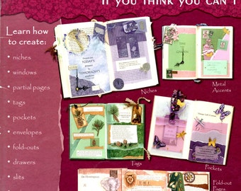 How to Make Altered Books If You Think You Can't Learn to Make Do Layout Attach Page Niche Door Window Tag Text Slit Craft Leaflet HOTP 2316