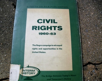Vintage Book Civil Rights 1960-1963
