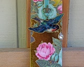 Gold Foil Embellished Bird Bookmark