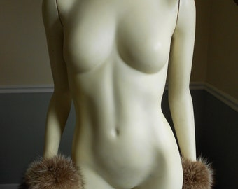 Raccoon Fur Collar with Matching Cuffs / Genuine Fur