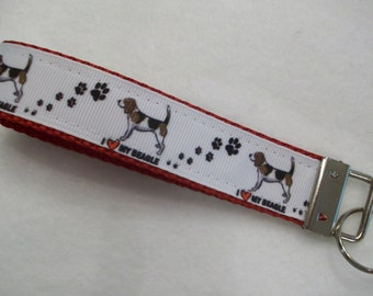 Beagle Dog Breed Key Wristlet