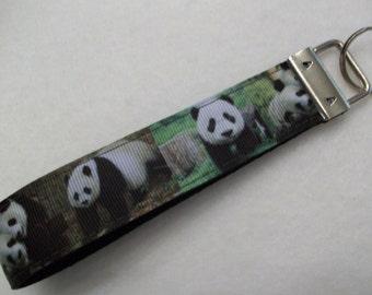 Panda Key Fob / Key Wristlet