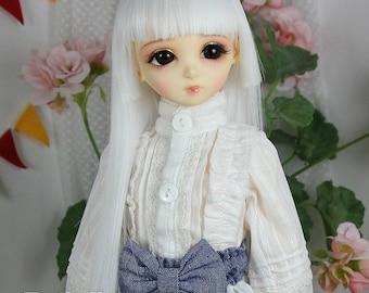 Fatiao - New Dollfie MSD 1/4 BJD Size 7-8 inch Dolls Long Wig White