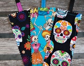 Day of the Dead - Set of 3 fabric bookmarks