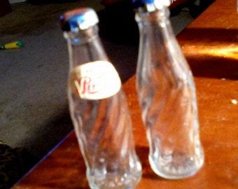 2 Miniature Vintage Pepsi Bottles