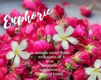 Jasmine Rose Botanical Perfume Euphoric Vegan Intense Exotic Floral