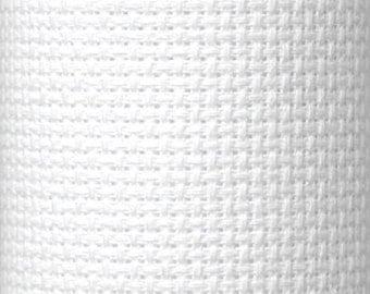 Aida 14 count White Aida from Zweigart 74 x 50 cms, aida for cross stitch, 14 count cross stitch fabric, white aida