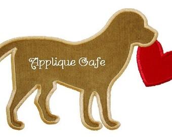 254 Valentine Dog Machine Embroidery Applique Design