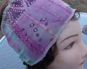 Imported FRENCH Stretch LACE Wide Headband Womens Teen Girls One Size Fits