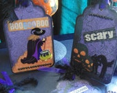 Lot of Halloween Tags Scrapbook Papercraft Goodie Bags