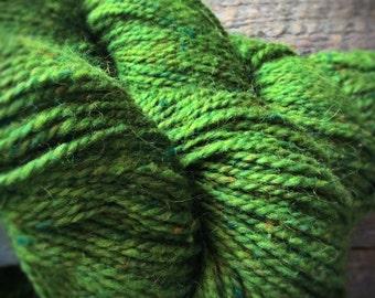 Bright green worsted wool yarn - green yarn - Peace Fleece yarn - Greenery - Shaba Green - knitting yarn shop