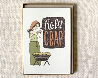 Funny Holiday Card Set of 6 - Holy Crap