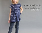 NEW Pumpkin Spice PDF pattern and tutorial 12m-12y  tunic dress jumper blouse