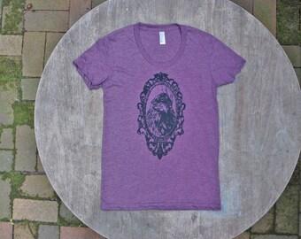 Game of Thrones Tee / Three Eyed Raven Tshirt / Gothic Tee / American Apparel Women's Tee in Plum