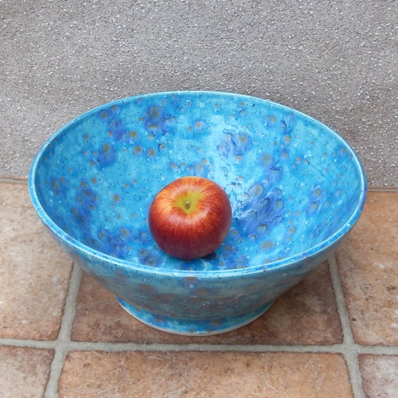 Centrepiece large dish fruit bowl hand thrown pottery