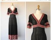 25% OFF SALE... Vintage 1970s Maxi Dress | 70s Maxi Dress | 70s Wool Dress | 1970s Dress | Vintage Wool Dress