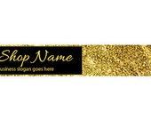 Etsy Shop Banners -  Etsy Banners - Gold Glitter