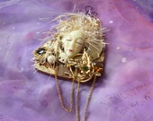 Wall Art Doll, Hanging Doll, Doll Art, Assemblage Art, Mixed Media Art by mystic2awesome