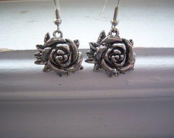 Rosebud  Earrings - Wedding Earrings - Bridal Earrings -Flower Earrings