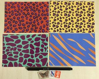 Animal Print Postcards - Set of 4