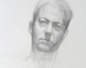 Self portrait sketch - original drawing  (FD 86)