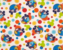 Disney Mickey Mouse FLANNEL Fabric - 100% Cotton Flannel Fabric - By the Fat Quarter, 1/2 Yard or Full Yard