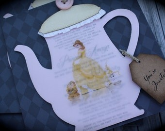 Elegant TEA POT Tea Party Invitation for birthday, baby shower, bridal shower or any occasion
