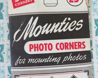 Nice Package of Vintage Black Paper Photo Corners