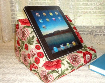 Ipad Stand Padded For Your Lap / Personalize With The Fabric You Choose