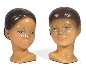 Ceramic Boy and Girl Busts