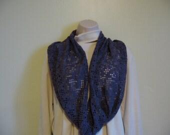 Infinity Scarf/Cowl Pattern in Filet Crochet