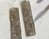 Essential Bar silvertone earrings