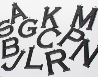 Black Metal Letters Made with Recycled Materials
