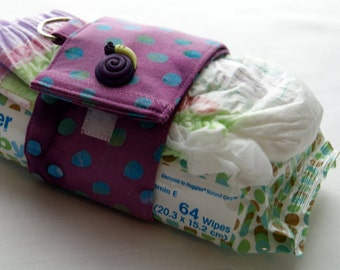 Baby Items Holder ~ Strap for Wipes and Diapers ~ Mother to Be Gift Item ~ Handy Strap for Baby Diapers ~ Infant Travel Clasp ~