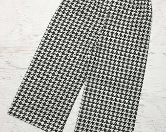 Houndstooth Pants - Alabama Football Outfit - Roll Tide Pants - Black and White Houndstooth Pants - Cotton Pants - Alabama Crimson Tide