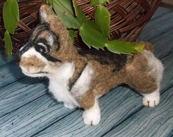 Swedish Valhund Needle Felted soft sculpture