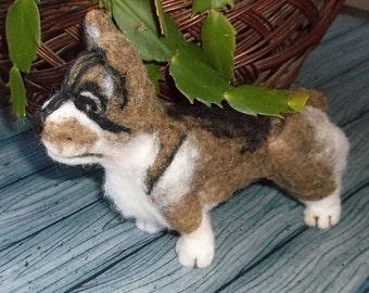 Swedish Valhund Needle Felted soft sculpture