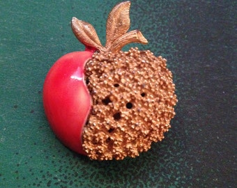 BSK Apple/Peach Brooch