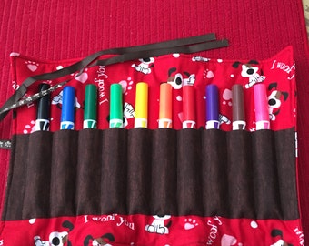 DOGS MARKERS HOLDER KSEW132 Roll Up and Tie