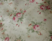 Yuwa Cotton Fabric PDF007A Roses on Cream