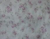 Yuwa Double Guaze Live Life Cotton Fabric 912437C Purple Roses on Light Cream