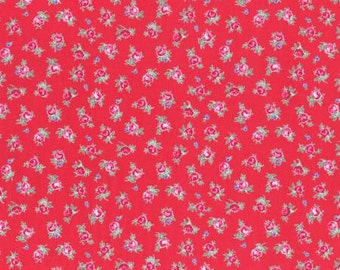 Flower Sugar Spring 2015 Pink Roses Cotton Fabric  by Lecien 31131-30 Red