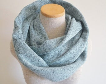 Sweater Scarf - Infinity Scarf - Glacier Heather