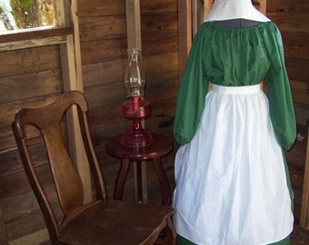 Colonial Dress Costume Civil War Pioneer Prairie -New