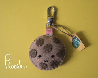 Chocolate Chip Cookie Plush Keychain