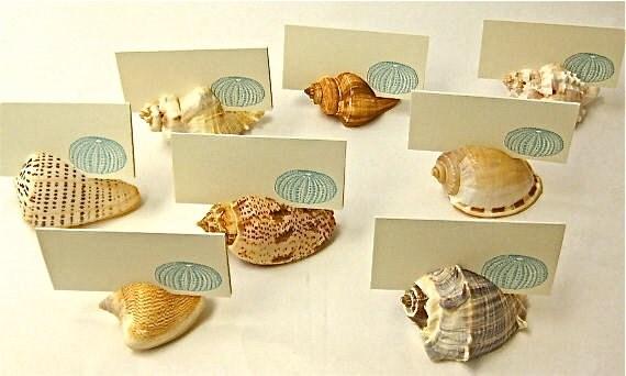 Card holder beach wedding