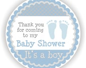 It is a Boy Baby Shower - 40 Thank You 2 inch circle Stickers - Baby Shower Labels - Envelope Seal - Address Labels - Personalized Labels