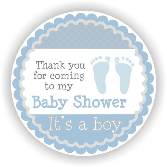It Is A Boy Baby Shower 40 Thank You 2 Inch Circle