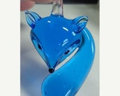 50% OFF - 1 Pc Glass Fox Pendant TURQUOISE color